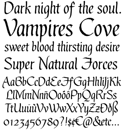 Gothic Ultra font by Blue Vinyl