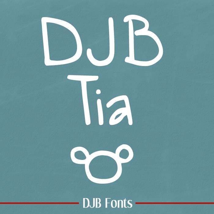 DJB Tia font by Darcy Baldwin Fonts