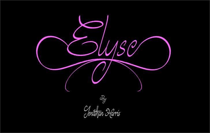 Elyse font by Jonathan S. Harris