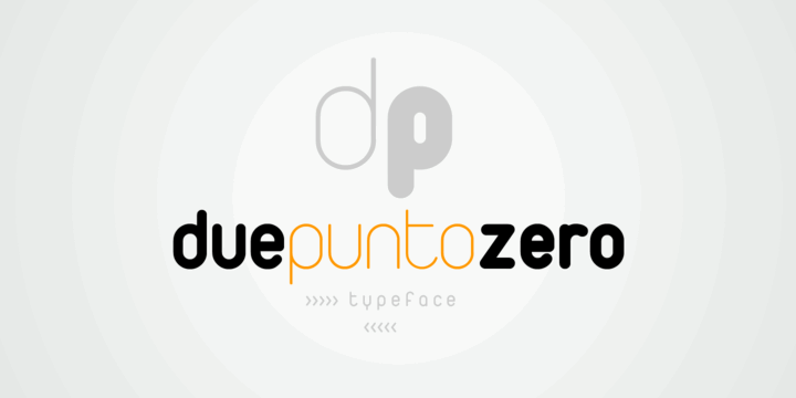 Duepuntozero font by Zetafonts