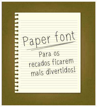 paperfont1 font by Elis Nunes