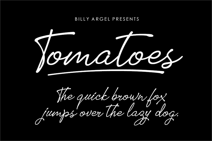Tomatoes font by Billy Argel