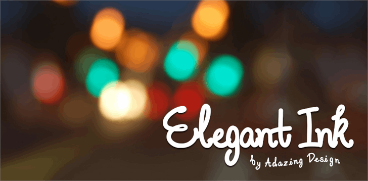 Elegant Ink font by Adazing