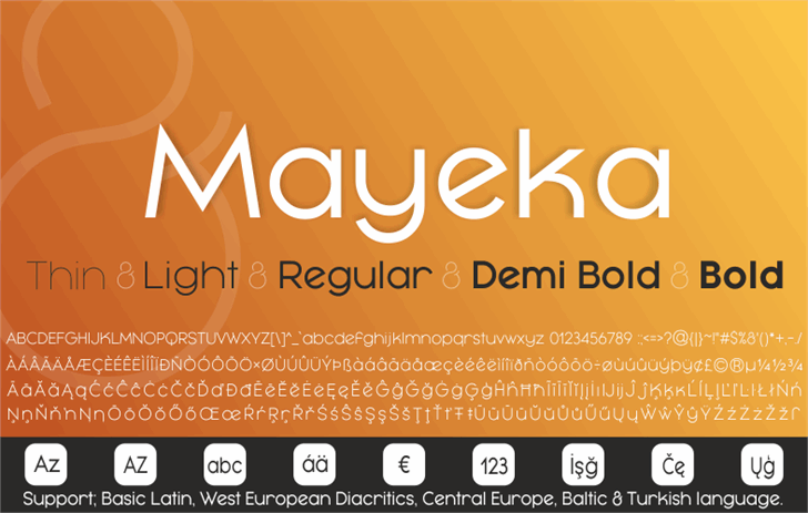 Mayeka Bold Demo font by studiotypo