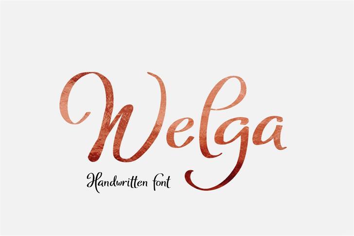 Welga font by Eva Barabasne Olasz
