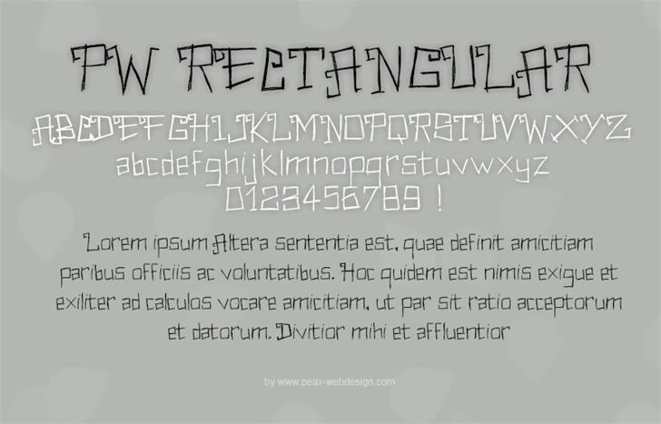 PWRectangular font by Peax Webdesign