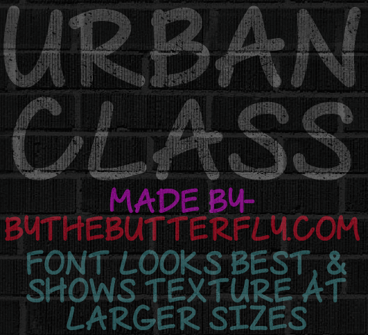 Urban Class font by ByTheButterfly