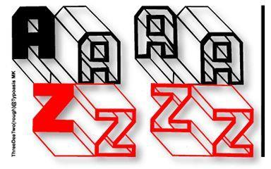 ThreeDeeTwoBeta font by Manfred Klein