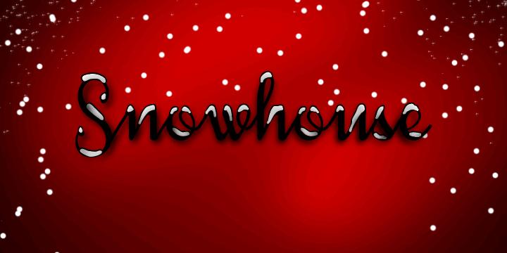 Snowhouse DEMO font by Måns Grebäck