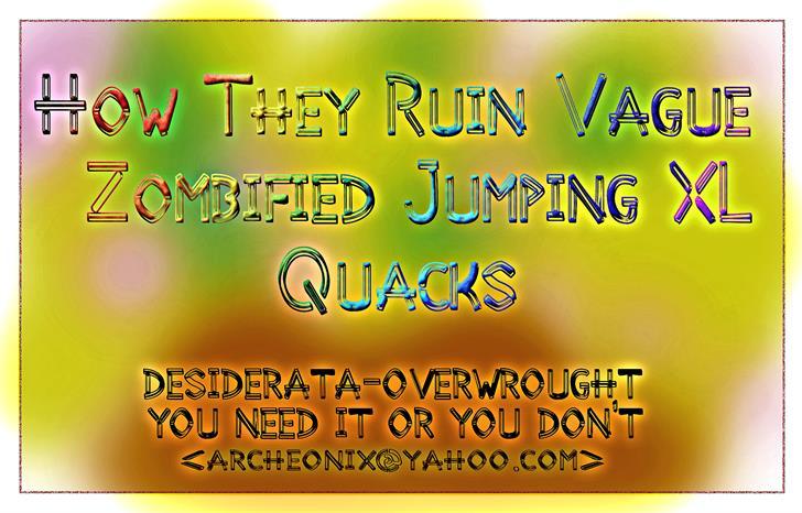 Desiderata font by moonmoth design