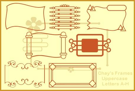 Chay's Frames font by Chay's Graphic Design Studio