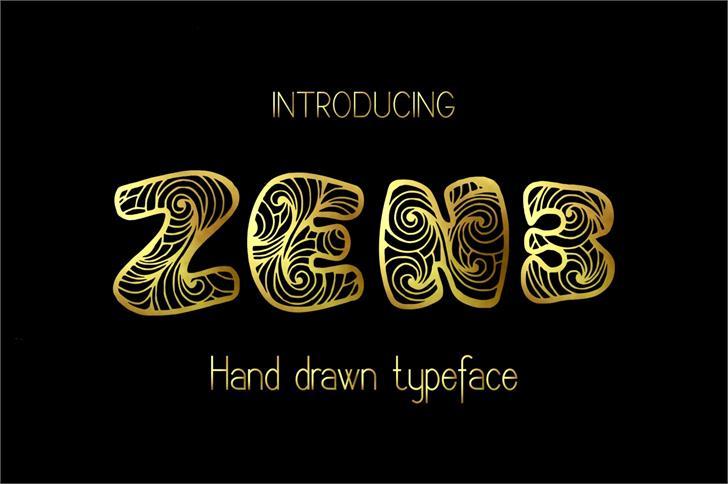Zen3 font by Eva Barabasne Olasz