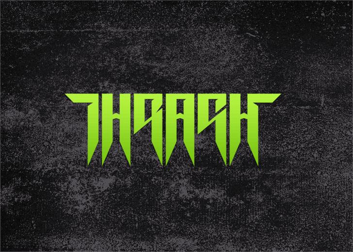Thrash it font by Font Monger