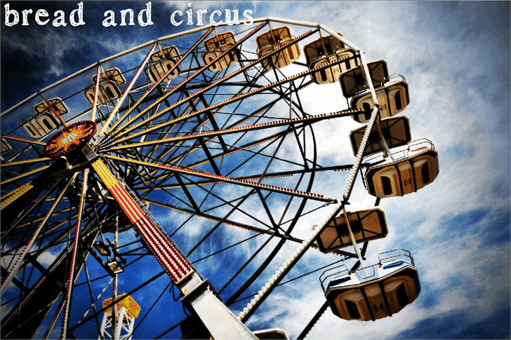 bread and circus font by Nishat Firoj
