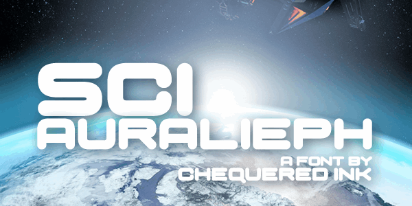 Sci Auralieph font by Chequered Ink