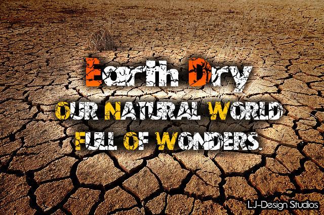 Earth Dry - LJ-Design Studios font by LJ Design Studios