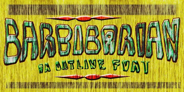 BarbibarianMarker font by moonmoth design