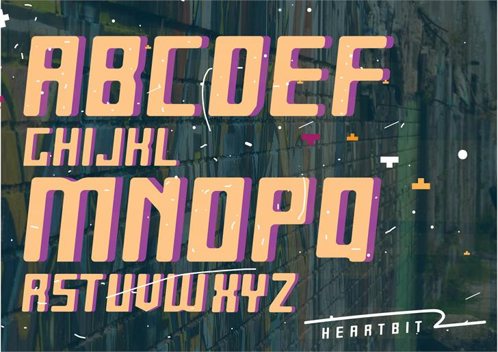 Heartbit font by Chris Ngalu