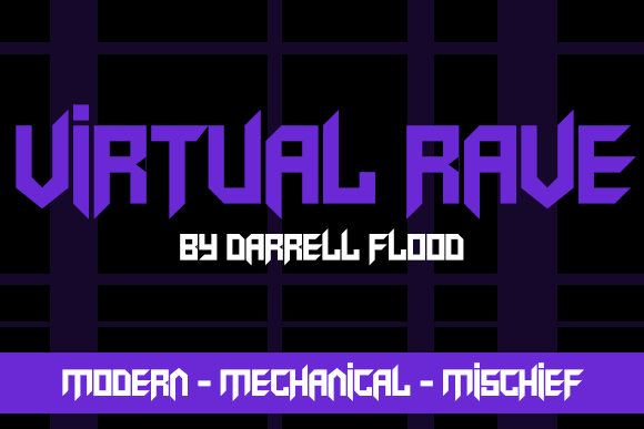 Virtual Rave font by Darrell Flood