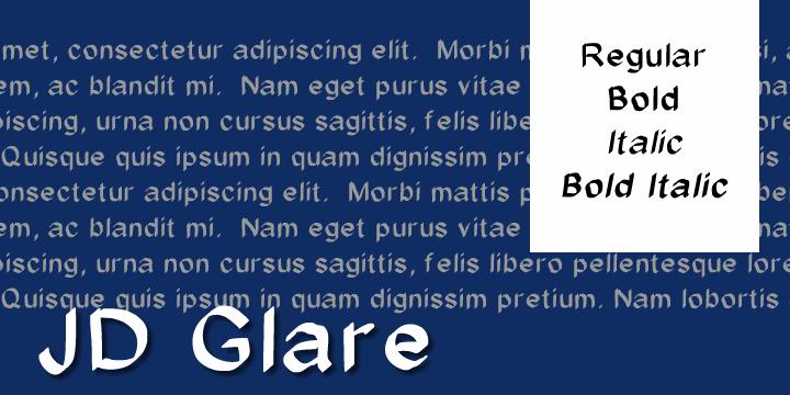 JD Glare font by Jecko Development