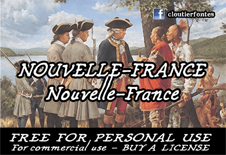 CF Nouvelle France font by CloutierFontes