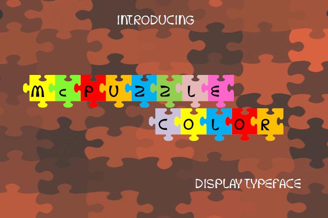 McPuzzle Color font by Jaime Rangel Castro
