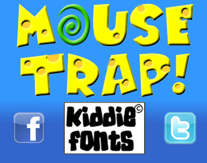 MOUSE TRAP font by KiddieFonts