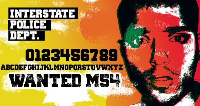 Wanted M54 font by justme54s