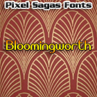 Bloomingworth font by Pixel Sagas