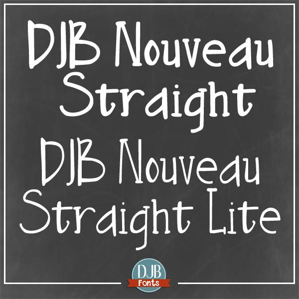 DJB Nouveau Straight font by Darcy Baldwin Fonts