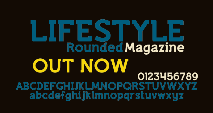 Lifestyle Rounded M54 font by justme54s