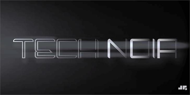 Tech Noir font by John Gauthier Designs