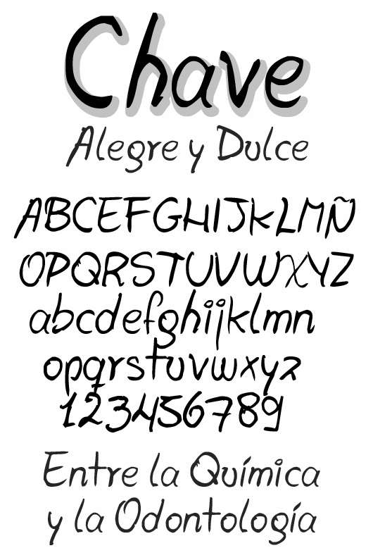 Chave font by Juan Casco