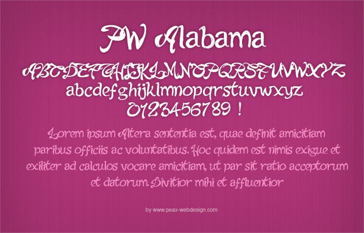 PWAlabama font by Peax Webdesign