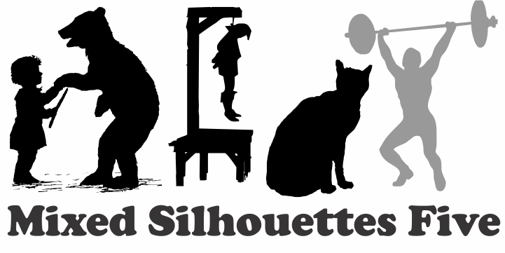 Mixed Silhouettes Five font by Intellecta Design