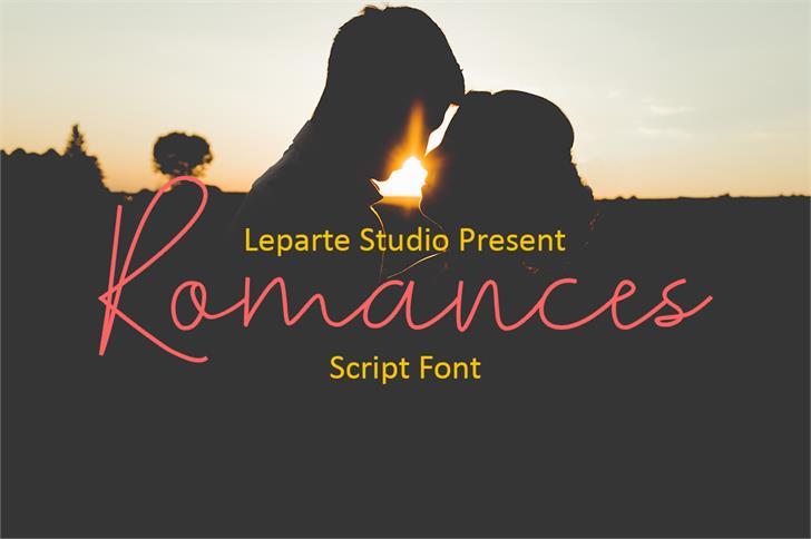 Romances Script Font by lepartestudio