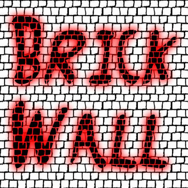 Brick_Wall font by fontden