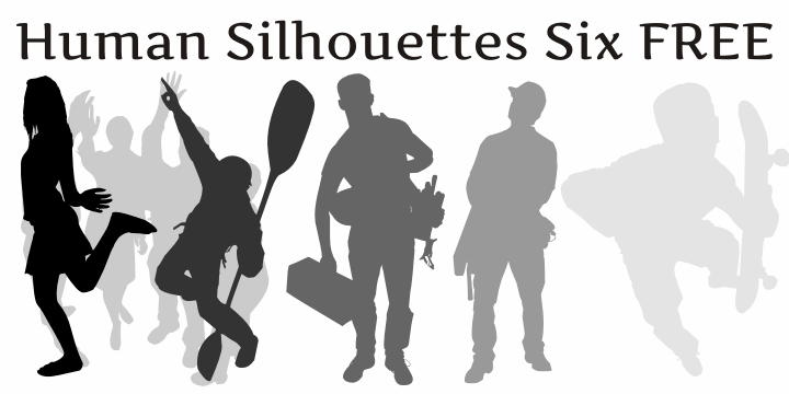Human Silhouettes Free Six font by Intellecta Design