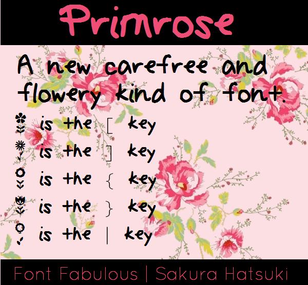 Primrose font by fluffybanana101