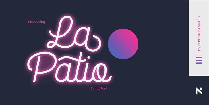 La Patio font by Nasir Udin