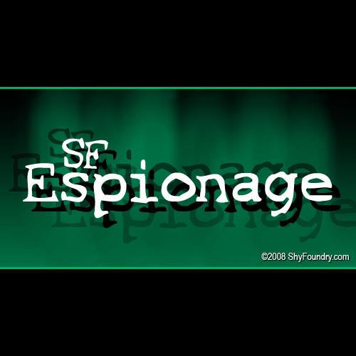 SF Espionage font by ShyFoundry