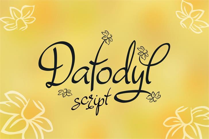 Dafodyl font by Eva Barabasne Olasz
