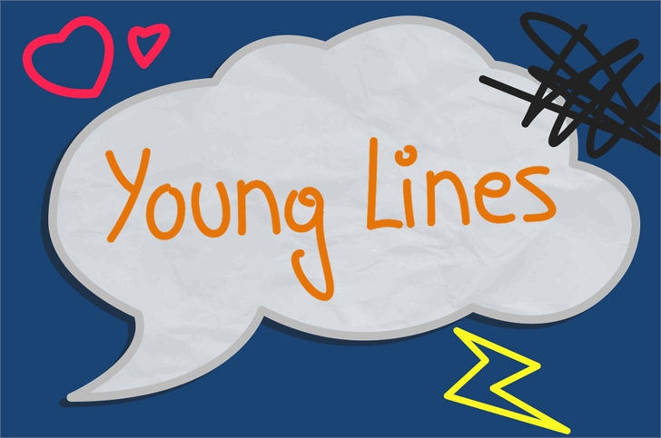 Young Lines font by Rémi Godefroid