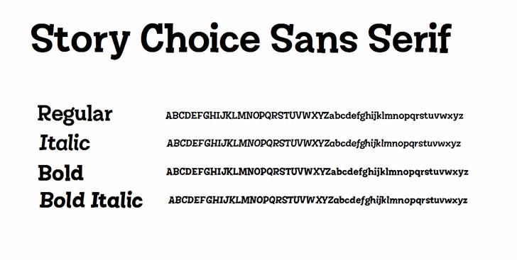 Story Choice Sans Serif font by 538Fonts