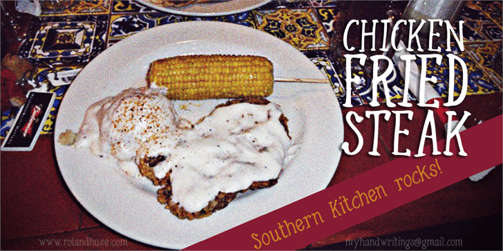 Chicken Fried Steak font by Roland Huse Design