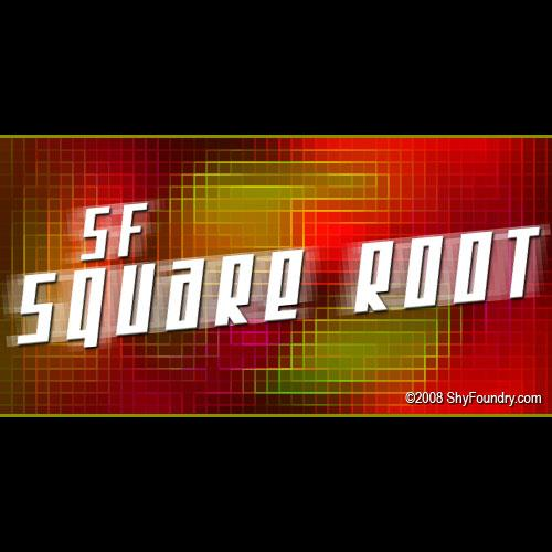 SF Square Root font by ShyFoundry