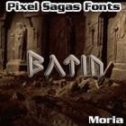 Moria font by Pixel Sagas