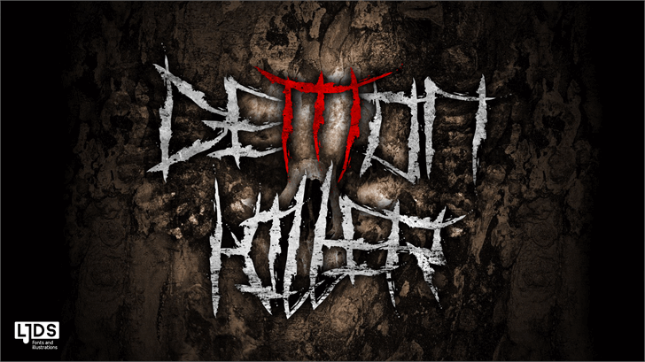 Demon Killer font by LJ Design Studios
