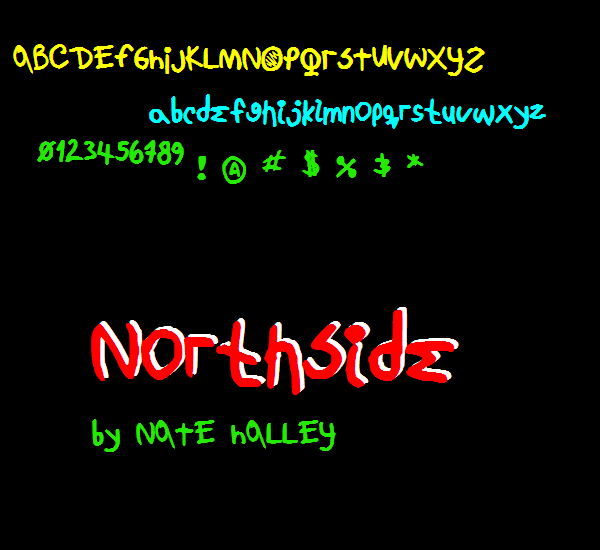 NorthsideNBP font by total FontGeek DTF, Ltd.