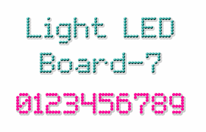 Light LED Board-7 font by Style-7